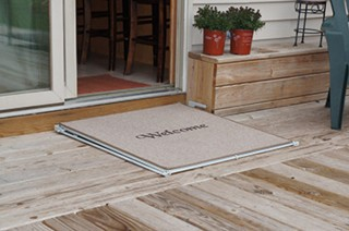 Welcome mat flat